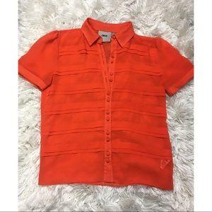 ASOS Sheer Button Up Blouse